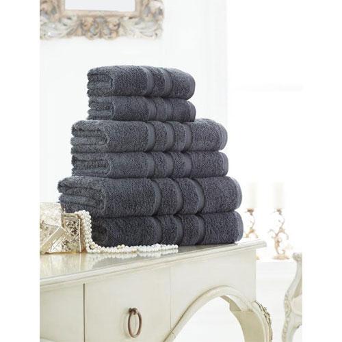Supreme Cotton Bath Sheets Charcoal