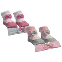 Baby Girl Little Angel Socks And Headband