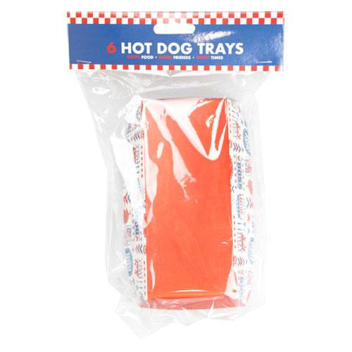 BBQ Cardboard Hot Dog Trays