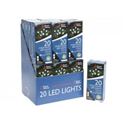 20 Cold White LED Lights
