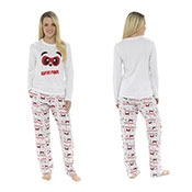 Ladies Super Panda Printed Pyjamas