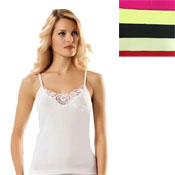 Ladies Cotton Vests Pastel