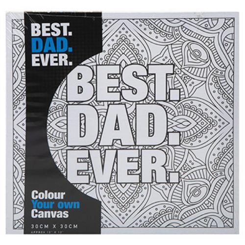 Colour Your Own Canvas Best Dad Design