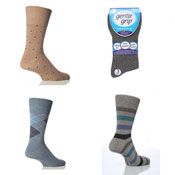 Mens Gentle Grip Socks Mixed Styles