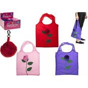 Rose Design Folded Shopping Bags