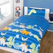 Childrens Fun Filled Bedding - Dinosaur Blue