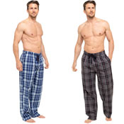 Mens Printed Check Lounge Pants Blue/Black