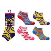 Ladies ProHike 3 Pack Trainer Socks Zebra Pattern