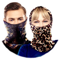 Unisex Tube Neck Scarf Dark Prints