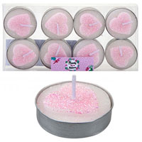 Mum In A Million Glitter Heart Tealight Candles