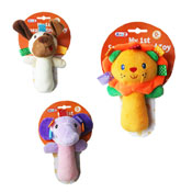 Soft Squeaky Animal Hand Toy Assorted