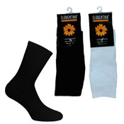 Ladies 70% Cotton Ankle Socks Black/White
