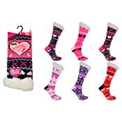 Snuggle Toes Ladies Heat Machine Socks Hearts/Crosses