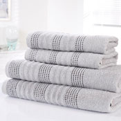 Spa Luxury Cotton Bath Sheets Silver