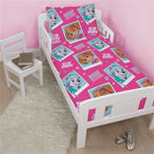 Girls Paw Patrol 4 Piece Toddler Bed Set