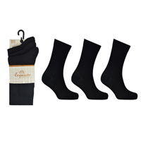 Ladies 3 Pack Exquisite Black Socks