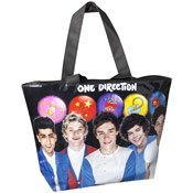 One Direction Balloons Large Tote Bag