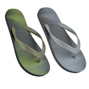 Older Boys Two Tone Flip Flops Khaki/Black