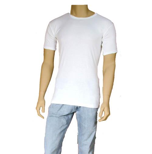 Mens Thermal Underwear T-Shirt White