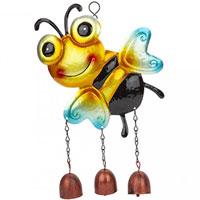 Metal Bee Happy Garden Wind Chime