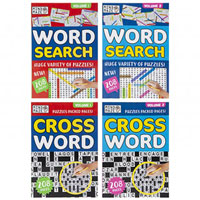 A5 Travel Crossword Word Search Books