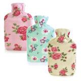 2 Litre Pretty Flower Fleece Hot Water Bottle