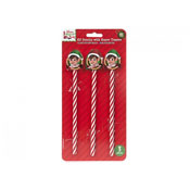 Printed Candy Cane Pencils With Elf Eraser