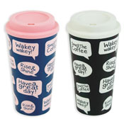 Travel Coffee Cups in 2 Colours