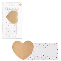 Card Heart Place Cards 6 Pack