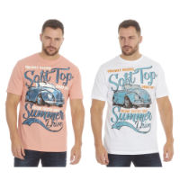 Mens Printed T-Shirt Car