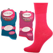 Ladies Flexi-Top Non Elastic Diabetic Socks Plain