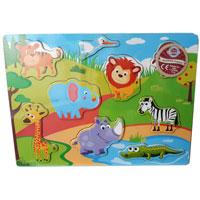 Wood Puzzle - Safari