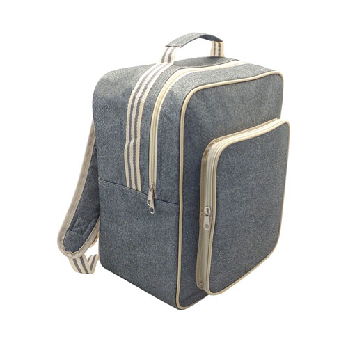 Insulated Cooler Bag Backpack XL Grey Stripe