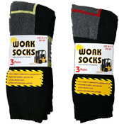Mens Work Socks Coloured Heel and Toe 5 Pack