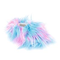 Kids Rainbow Wild Fur Slippers