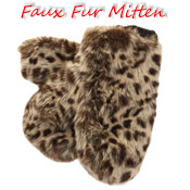 Faux Fur Mitten with Fleece Lining