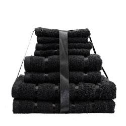 8 Piece Towel Bale Black Egyptian Cotton