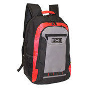 JCB Heavy Duty Padded Strap Backpack Red