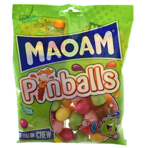 Haribo Maoam Pinballs Chewy Sweets 140g Bag