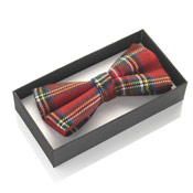 Dickie Bow Tie Red Tartan Boxed