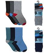 Boys Contrast Heel & Toe Socks 3 Pack