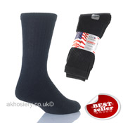 3 Pack Black Washington 6-11 Sport Socks