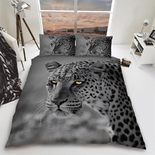 Leopard Big Cat Reversible Duvet Set