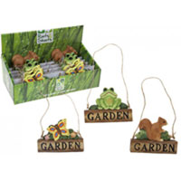 Hanging Garden Signs In Display Box