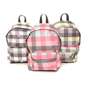 Outdoor Check Style Rucksack Bag