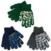 Boys Thermal Magic Camouflage Gripper Gloves