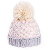 Girls Soft Knit Bobble Hat With Sequins