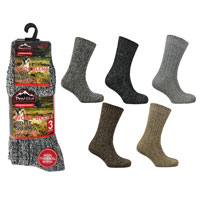 Mens Wool Blend Chunky Boot Socks