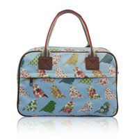 Birds And Flowers Day Bag Light Blue