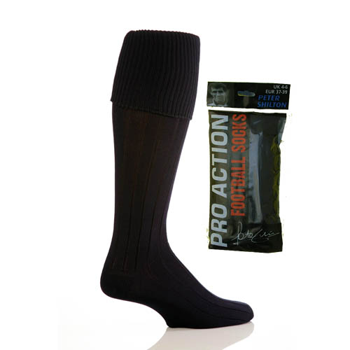 Black Football Socks size 4-6